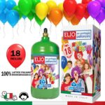 Bomboletta elio per gonfiare palloncini – 18 palloncini in lattice INCLUSI