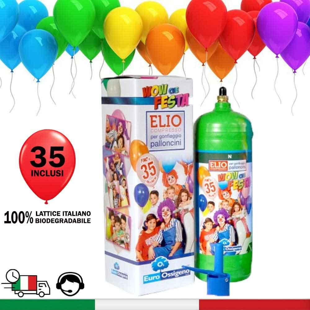 Bomboletta elio per gonfiare palloncini - 35 palloncini in INCLUSI -  addobbi per feste di compleanno bambini e adulti