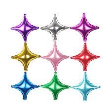 decorazioni foil stelle 4 punte