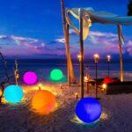 Sfere gonfiabili luminose RGB a luce solare colori diametro 45 cm – 2 pezzi
