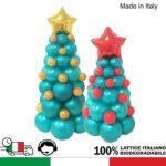 Albero di Natale con palloncini modello montessori altezza 60 cm e 100 cm in VARI COLORI