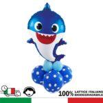KIT centrotavola personaggio disney Baby Shark. Hobby creativi per festa a tema compleanno Baby Shark rosa, celeste e giallo