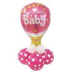 Kit palloncino centrotavola nascita babyshower neonata ideale per addobbi festa benvenuta piccolina. Idea regalo per mamme creative.