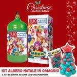 OFFERTA SPECIALE Bombola gas elio con18 palloncini INCLUSI + Kit Albero di Natale con palloncini